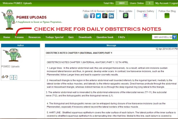 LOG INTO @ http://www.pgmeeuploads.com/ FOR DAILY OBSTETRICS NOTES/ HYF/ MCQS